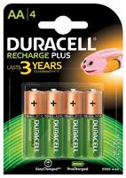 Duracell Recharge Plus AA-batterijen, verpakking van 4