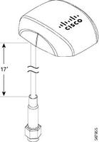 Cisco 4G Indoor/Outdoor Active GPS Antenna Directional antenna SMA 4dBi network antenna