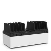Belkin Store & Charge - Laadstation met vaste compartimenten (10-poort USB laadstation inbegrepen)