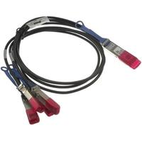 DELL QSFP28 - 4 x SFP28, 2 m Glasvezel kabel 4x SFP28 Black,Red