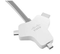 Cisco CAB-HDMI-MUL4K-9M= video kabel adapter HDMI Type A (Standaard) HDMI + Mini DisplayPort + USB C Zilver