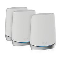 Netgear Orbi WiFi 6 wireless router Tri-band (2.4 GHz / 5 GHz / 5 GHz) Gigabit Ethernet Stainless steel,White