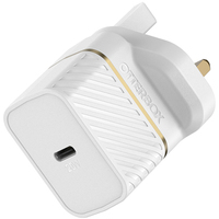 OtterBox Premium fast charge wall charger (UK) 20-W, Cloud Dust White