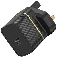 OtterBox Premium fast charge wall charger (UK) 20-W, Black Shimmer