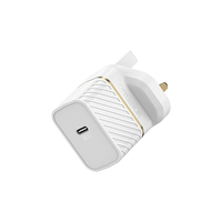 OtterBox Premium fast charge wall charger (UK) 30-W, Cloud Dust White
