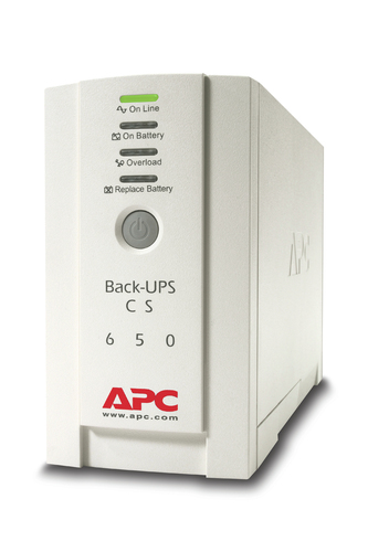 APC Back-UPS uninterruptible power supply (UPS) Standby (Offline) 650 VA 400 W 4 AC outlet(s)