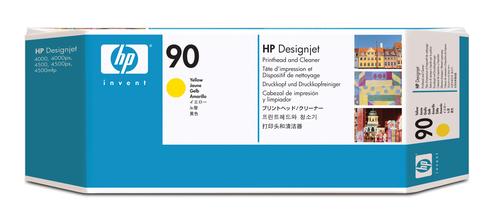 HP 90 gele DesignJet printkop en printkopreiniger