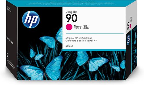 HP 90 225-ml Magenta DesignJet Ink Cartridge inktcartridge 1 stuk(s) Origineel