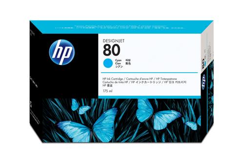 HP 80 175-ml Cyan DesignJet Ink Cartridge inktcartridge Origineel Cyaan