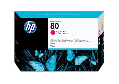 HP 80 175-ml Magenta DesignJet Ink Cartridge inktcartridge 1 stuk(s) Origineel