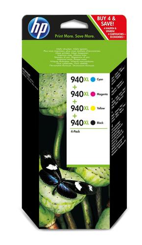 HP 940XL inktcartridge 4 stuk(s) Origineel Hoog (XL) rendement Zwart, Cyaan, Magenta, Geel