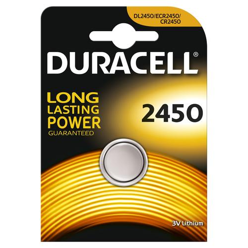 Duracell Specialty 2450 Lithium knoopcelbatterij, verpakking van 1