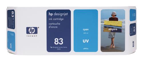HP 83 680-ml Cyan DesignJet UV Ink Cartridge inktcartridge 1 stuk(s) Origineel Cyaan
