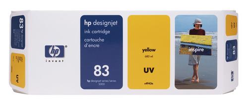HP 83 680-ml Yellow DesignJet UV Ink Cartridge inktcartridge 1 stuk(s) Origineel Geel