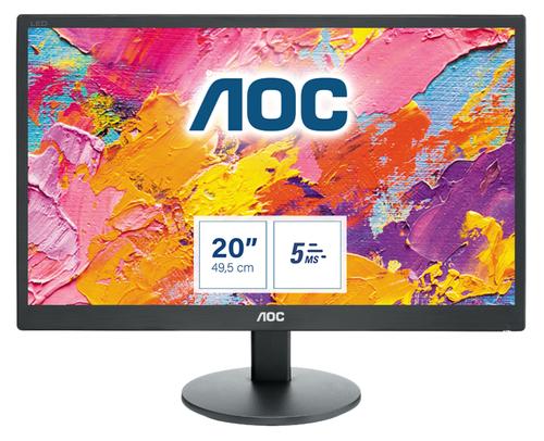 """AOC 70 Series E2070SWN LED display 49,5 cm (19.5"""") 1600 x 900 Pixels Zwart"""