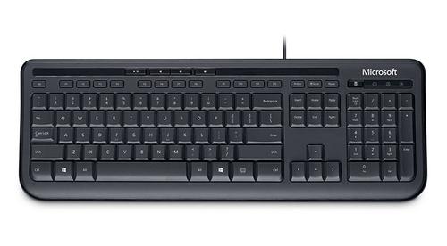 Microsoft Wired Keyboard 600 USB Alfanumeriek Engels Zwart toetsenbord