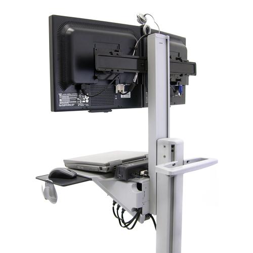 Ergotron Neo-Flex Dual WideView WorkSpace Vlakke paneel Multimedia cart Grijs