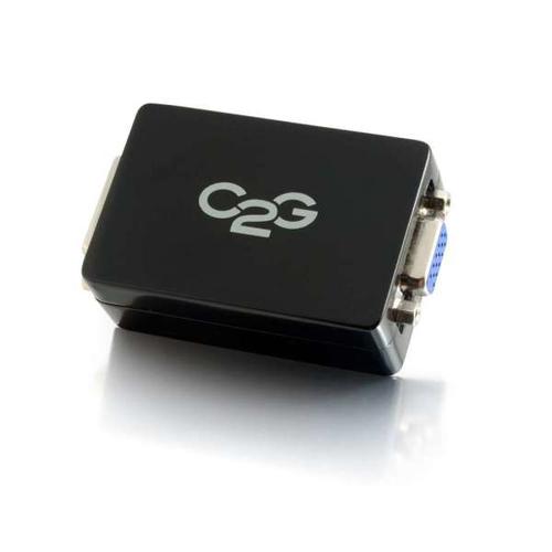 C2G 82401 tussenstuk voor kabels DVI-D HD15 Zwart