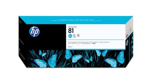 HP 81 Origineel Cyaan