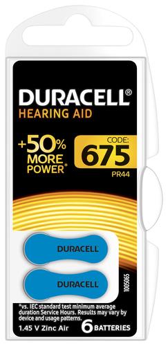 Duracell Hearing Aid-batterijen maat 675, verpakking van 6