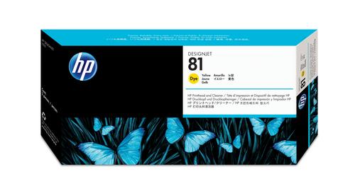 HP 81 gele DesignJet printkop en printkopreiniger voor kleurstofinkt