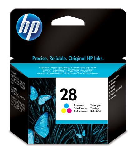 HP 28 inktcartridge 1 stuk(s) Origineel Normaal rendement Cyaan, Magenta, Geel