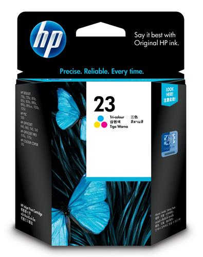 HP 23 originele drie-kleuren inktcartridge