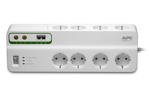 APC PMF83VT-GR surge protector 8 AC outlet(s) 230 V 3 m White
