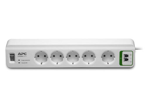 APC PM5T-GR surge protector 5 AC outlet(s) 230 V 1.83 m White