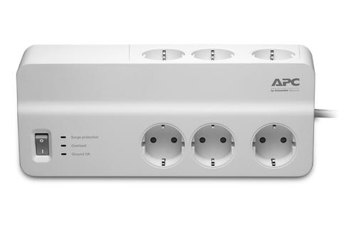 APC PM6-GR surge protector 6 AC outlet(s) 230 V 2 m White