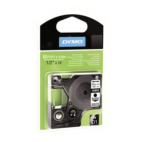 DYMO 12mm D1 Permanent polyester tape D1 label-making tape