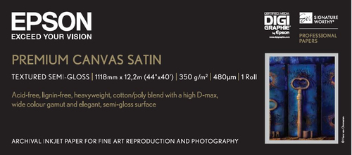 "Epson PremierArtsTM WaterResistant Canvas Roll, 44"" x 12,2 m, 350g/m²"