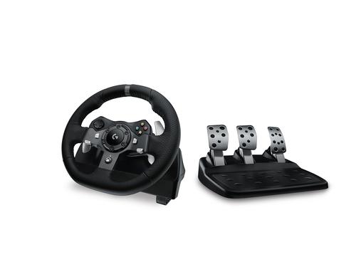 Logitech G920 Stuurwiel + pedalen PC, Xbox One Zwart