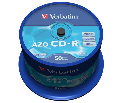 Verbatim CD-R AZO Crystal 700 MB 50 stuk(s)