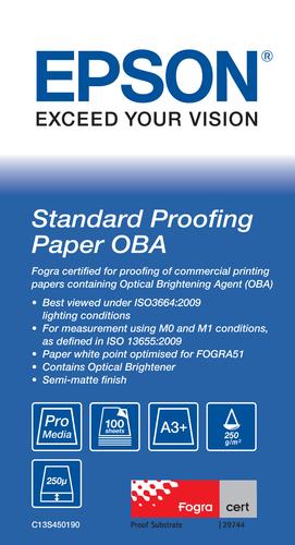 Epson C13S450190 A3+ (330x483 mm) Semi-mat Wit papier voor inkjetprinter