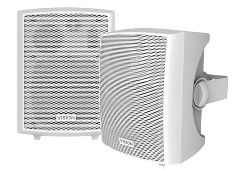 Vision SP-800P loudspeaker 3-way White Wired 24 W