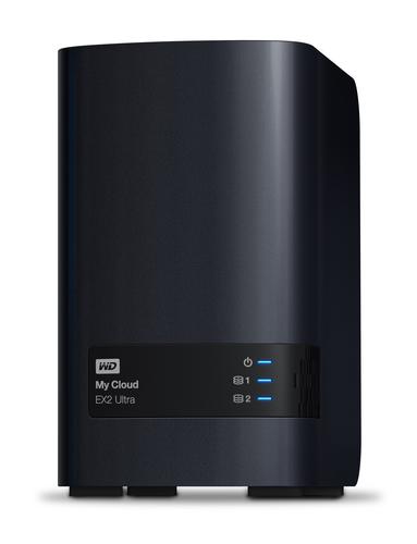 Western Digital My Cloud EX2 Ultra 3.5 Inch 2 bay My Cloud EX2 Ultra NAS, 4TB, Zwart