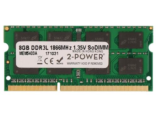 2-Power 8GB PC3-14900 1866MHz 1.35V SODIMM Memory