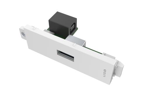 Vision TC3 USBA USB White socket-outlet