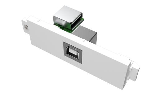 Vision TC3 USBB USB White socket-outlet