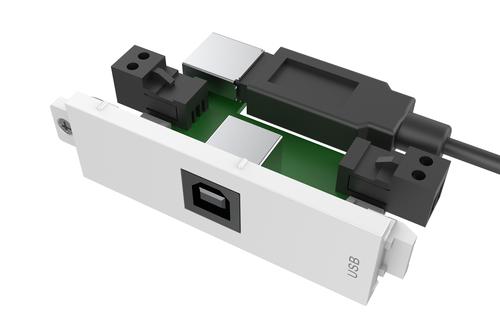 Vision TC3 USBB+ USB White socket-outlet
