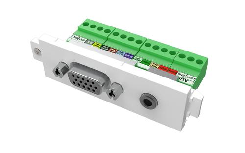 Vision TC3 VGAF3.5MM VGA + 3.5 mm White socket-outlet