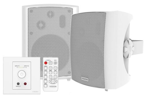 Vision TC3-AMP+SP-1800 loudspeaker White Wired 50 W