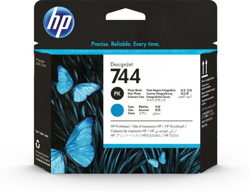 HP 744 fotozwarte/cyaan DesignJet printkop