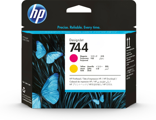 HP 744 magenta/gele DesignJet printkop