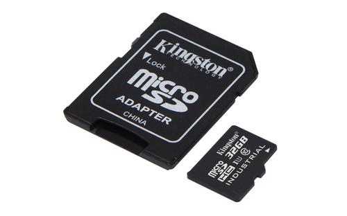 Kingston Technology Industrial Temperature microSD UHS-I 32GB 32GB MicroSDHC UHS-I Class 10 memory card