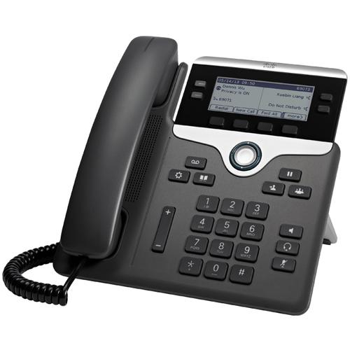 Cisco 7841 IP telefoon Zwart, Zilver Handset met snoer 4 regels LCD
