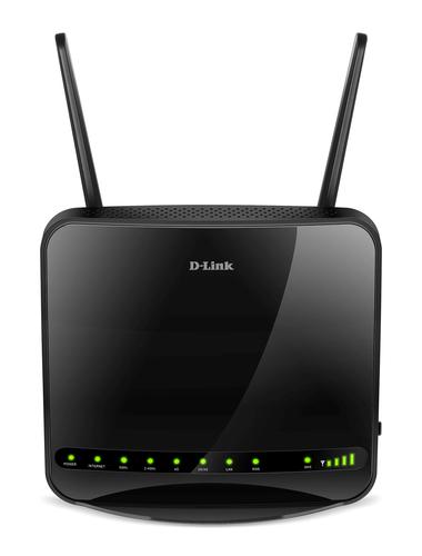 D-Link DWR-953 draadloze router Gigabit Ethernet Dual-band (2.4 GHz / 5 GHz) 3G 4G Zwart