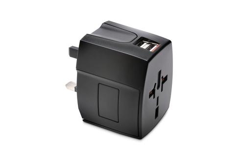 Kensington K33998WW Universal Black power plug adapter