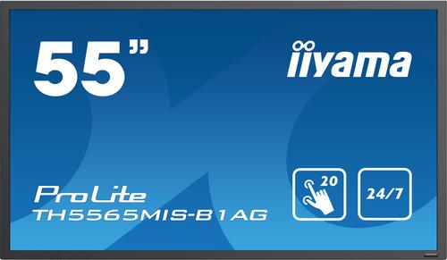 "iiyama ProLite TH5565MIS-B1AG Digital signage flat panel 55"" LED Full HD Zwart"